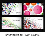 abstract beautiful set of  gift ... | Shutterstock .eps vector #60463348
