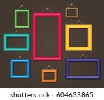 cartoon photo picture painting... | Shutterstock .eps vector #604633865