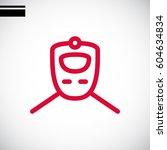 train icon flat. | Shutterstock .eps vector #604634834