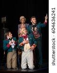 actors of men in antique... | Shutterstock . vector #604636241