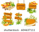 wood board  for text. price and ... | Shutterstock .eps vector #604637111