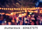 vintage tone blur image of... | Shutterstock . vector #604637375