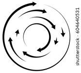 circular concentric arrows.... | Shutterstock . vector #604640531