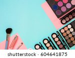 make up essentials. set of... | Shutterstock . vector #604641875