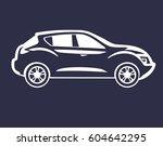 t shirt print japanese car logo ... | Shutterstock .eps vector #604642295