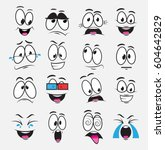cartoon eyes with expression... | Shutterstock .eps vector #604642829