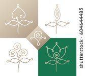 vector set of logo elements  ... | Shutterstock .eps vector #604644485
