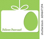easter cut out tag card in... | Shutterstock .eps vector #604647194