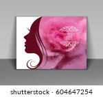 vector illustration of woman's... | Shutterstock .eps vector #604647254