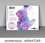 beauty salon  portrait of...   Shutterstock .eps vector #604647269