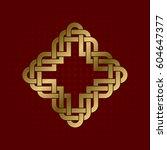 sacred geometric symbol of... | Shutterstock .eps vector #604647377