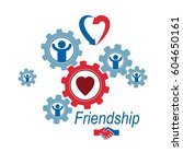 social relations conceptual... | Shutterstock .eps vector #604650161