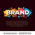 vector creative template with... | Shutterstock .eps vector #604651421