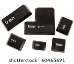 Black Keyboard Buttons ...