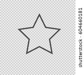 star vector icon eps 10. simple ... | Shutterstock .eps vector #604660181