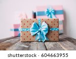 gift boxes are handmade. gifts... | Shutterstock . vector #604663955