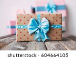 gift boxes are handmade. gifts... | Shutterstock . vector #604664105