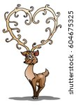 illustration of a reindeer have ... | Shutterstock . vector #604675325