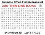 the variety of thin line icons... | Shutterstock .eps vector #604677131