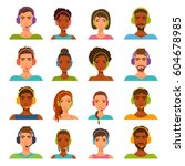 flat icons collection of... | Shutterstock .eps vector #604678985