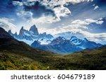 mount fitz roy in patagonia in... | Shutterstock . vector #604679189
