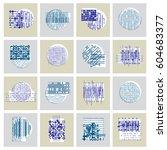 vector geometric compositions... | Shutterstock .eps vector #604683377