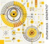 vector industrial and... | Shutterstock .eps vector #604694747
