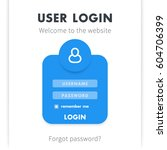 user login window design  page...