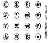 world currency signs placed in... | Shutterstock .eps vector #604709327