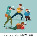 paparazzi design concept with... | Shutterstock .eps vector #604711484
