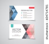 abstract business card set .... | Shutterstock .eps vector #604714781