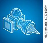 isometric abstract vector...   Shutterstock .eps vector #604715039