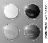 glass banner set. vector... | Shutterstock .eps vector #604716554