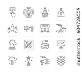 startup vector line icons ... | Shutterstock .eps vector #604726559