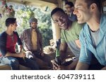 a group of friends  men and... | Shutterstock . vector #604739111