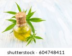 marijuana plant and cannabis... | Shutterstock . vector #604748411