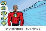 superhero with flowing cape   Shutterstock . vector #60475438