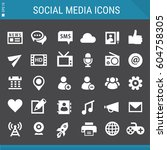 social media icons collection | Shutterstock .eps vector #604758305