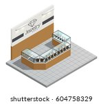 jewelry store top view interior ... | Shutterstock .eps vector #604758329