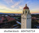 the hoover tower and view above ... | Shutterstock . vector #604763714