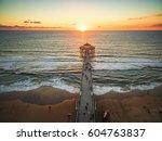 aerial view of the manhattan... | Shutterstock . vector #604763837