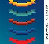 vector ribbons  banners ... | Shutterstock .eps vector #604765445