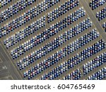 aerial view of a car... | Shutterstock . vector #604765469