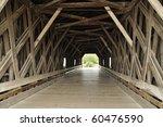 Inside Of Covered Bridge Over...
