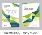 green and blue annual report... | Shutterstock .eps vector #604771901