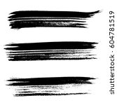 set of ink vector brush strokes.... | Shutterstock .eps vector #604781519