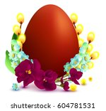 easter symbols and accessories...   Shutterstock .eps vector #604781531