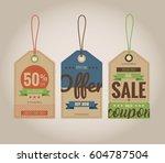 vector illustration. set of... | Shutterstock .eps vector #604787504