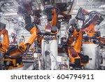 automobile production line | Shutterstock . vector #604794911