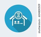 house alarm icon | Shutterstock .eps vector #604800509